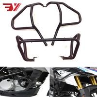 For BMW G310GS G310 GS 2017 2018 Motorcycle Accessories Tank protector Upper & Lower Carsh Bars Guard Engine Bumper Cover Black