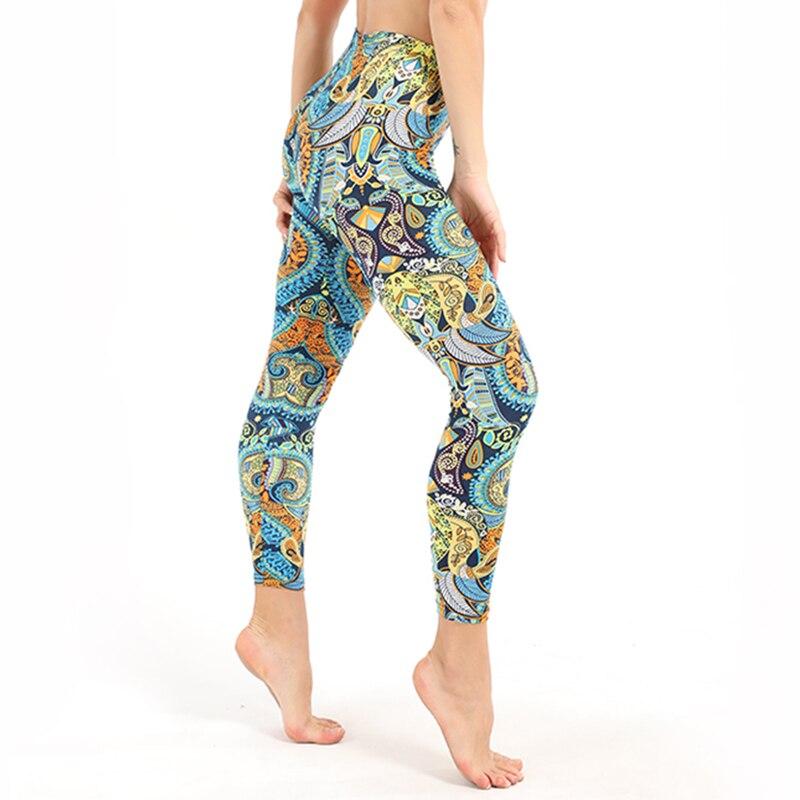 Summer Styles   Leggings   High Waist Elastic Trousers Women Green Leaf Pants Printed Stretch   Leggings   Calzas Mujer Leggins