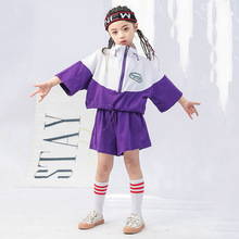 Cotton Summer Tracksuit Sets For Girls Designs Kids Hip Hop Style Coat And Shorts 2 Pieces Teenage Sports