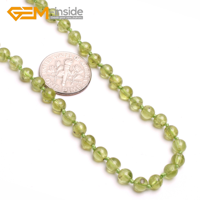 clover silver peridot women stone item luxury green natural pendant olivine trendy elegant necklace
