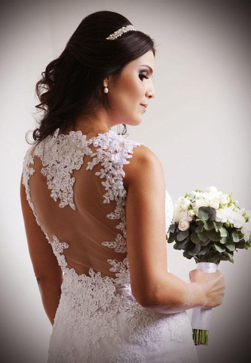Romantic 2016 Summer White Lace Short Wedding Dresses Sheath Scoop Appliqued Above Knee See Through Back Sexy Beach Bridal Gown In From