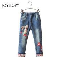 Girls Jeans Pants Spring Autumn 2017 Children S Clothing Jeans Cartoon Rabbit Embroidery Children Pants
