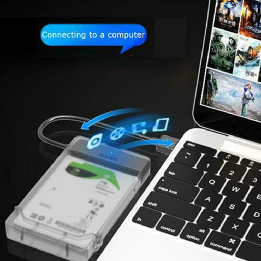 For Adapter Hard Drive Usb 3.0 To Sata 3.0 Hdd Hard Drive Enclosure Support 2.5 Inch Ssd Free Tools 3TB External HDD Case 5Gbps