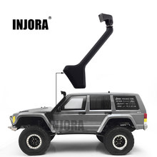 INJORA RC Car 1:10 Scale Black Rubber Snorkel for Axial SCX10 II 90046 90047 Body Shell Parts(China)