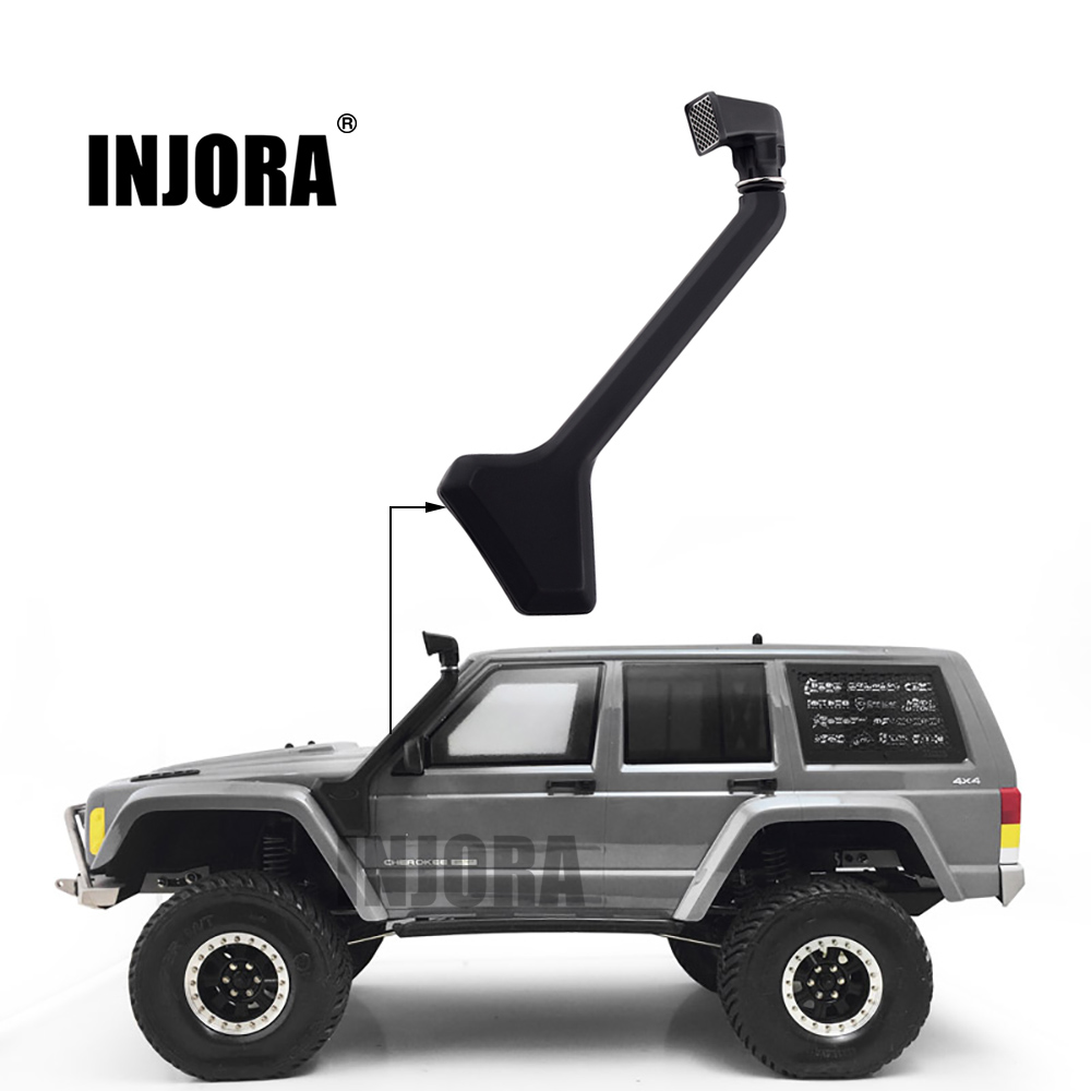 INJORA RC Car 1:10 <font><b>Scale</b></font> Black Rubber Snorkel for Axial SCX10 II 90046 90047 <font><b>Body</b></font> Shell Parts image