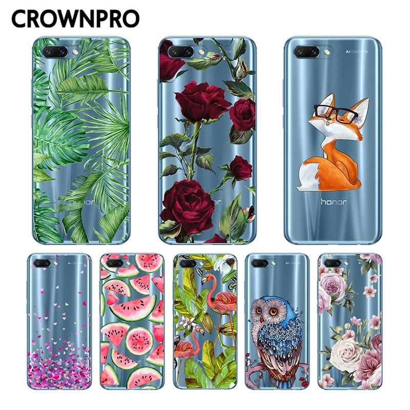 CROWNPRO Huawei Honor 10 Case Cover Honor 10 Case Phone Soft Silicone Coque Printing Back Protective Case Huawei Honor 10 Funda dispensador de cereal peru