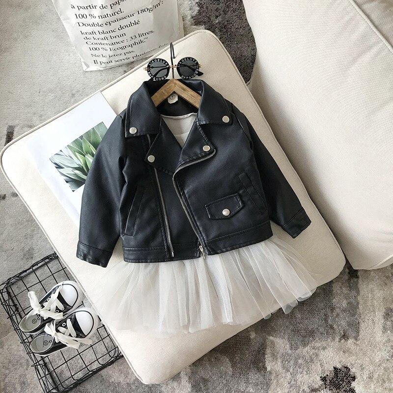 Детская куртка из ПУ кожи, на возраст 1-10 лет