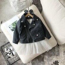 Blouson en cuir PU, vêtement printemps automne hiver, pour enfants de 1 10 ans, à la mode, 2020