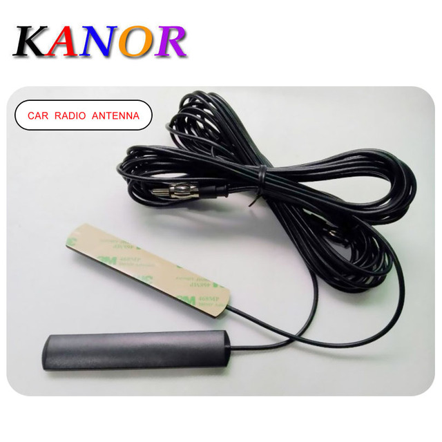 KANOR Car Aerial Antenna FM Radio Amplified Super Slim Hidden Mount On Glass Screen Roof Waterproof Free Shipping