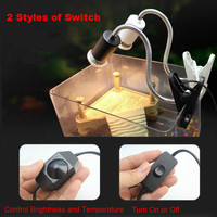 New Aquarium Heating Light Holder E27 UVA+UVB Aquarium Lamp Head Clip-on Light Holder For Turtle Lizard Frog 2 Style Switch