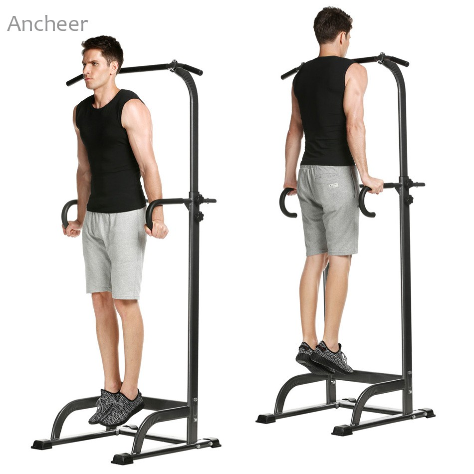 Indoor Home Adjustable Chin Up Pull Up Bar Strength Fitness Power Tower family home indoor horizontal bar on the door frame wall fitness chin up device
