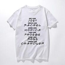6629f9e4f03 New camisa masculina TV series Friends t shirt Joey Rachel Monica Ross  Chandler gift tee shirt