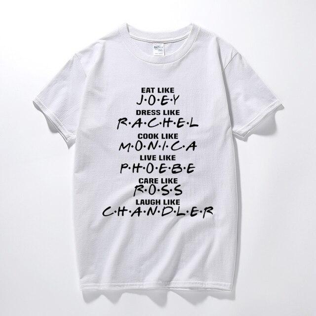50d11e609da New camisa masculina TV series Friends t shirt Joey Rachel Monica Ross  Chandler gift tee shirt homme Cotton short sleeve t-shirt