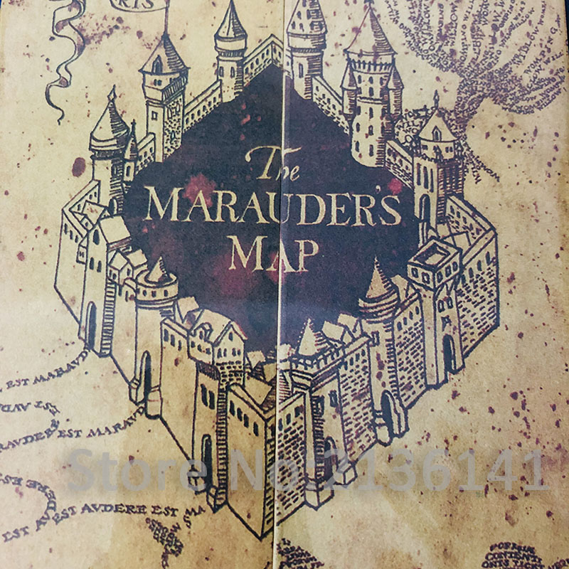 New Arrive The Marauder's Map/Hogwart Letter HP Movie Harry Wizard Ron Hedwig Hermione King's Cross Railway Station