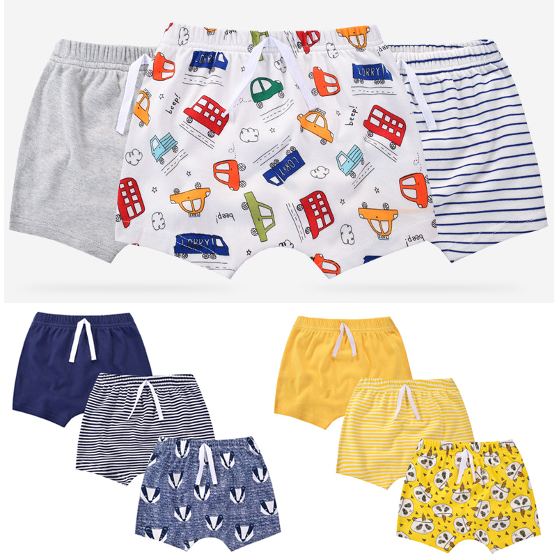 3 Pieces Of Cotton Boy Shorts Wear Summer Baby Pants 0-2 Years Old Children Ass Baby Harem Pants Multicolor Optional