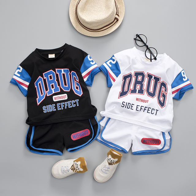 2-Piece Summer Style Baseball Design Top with Pants Set for Baby / Toddler