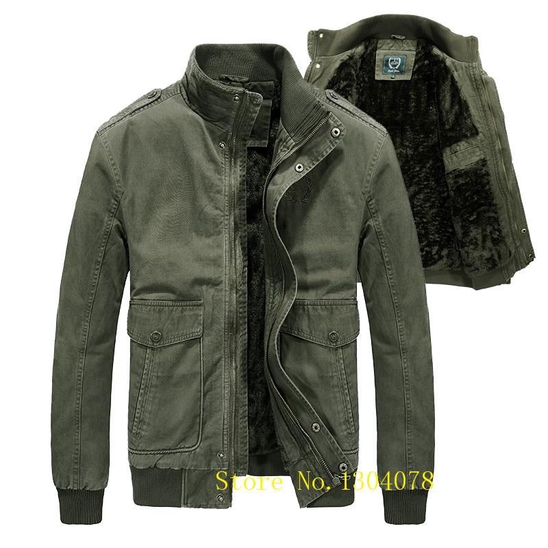 chaussures de sport 52b52 3c22b US $57.73 46% OFF|2018 men's winter jacket brand veste homme hiver AFS JEEP  military men's winter parka thick fleece warm coat male plus size 4XL-in ...