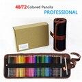 Набор цветных карандашей 72 с сумкой для карандашей 72 масляных карандаша для рисования 48 красочных карандашей