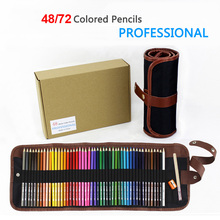 Colored 72 Pencil Set with Pencil Bag 72 Oily Pencils for Drawing 48 Colorful Pencils 32pcs professional drawing artist kit pencils sketch charcoal art craft with carrying bag tools