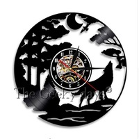2019 Rushed Sale Horloge Murale Free Shipping Factory Supply Bears And Wolves Vinyl Decorative Amazon Cross border Wall Clock