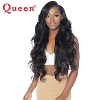 Queen Hair Products Peruvian Body Wave 1 Piece Only Remy Human Hair Extensions 12 28inch Natural