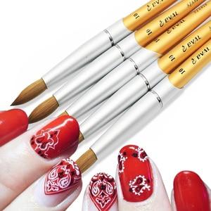 Image 5 - Eval Paint Brush 100% Pure Kolinsky Sable Nail Brush UV Gel Acrylic Nail Art Brush Set Nail Tool