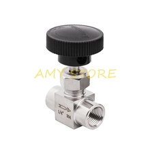 Needle-Valve Off-Flow-Control Water-Gas Threaded-Bspp Stainless-Steel SS304 Shut