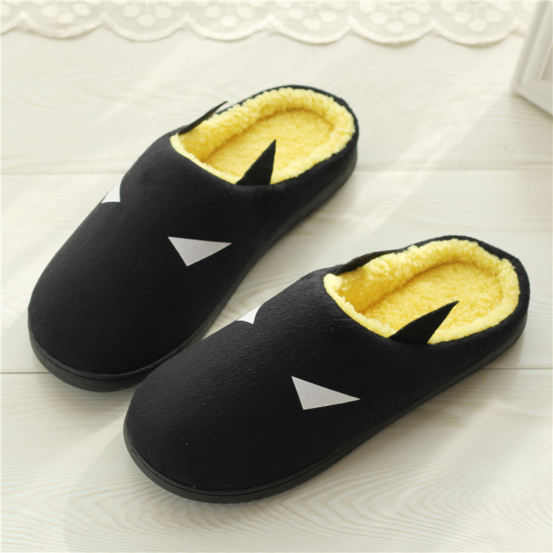 Winter Fashion Couples Cotton Non-slip Soft Slippers Men Women Superhero Indoor Warm Home Slippers Warm Slippers Indoor Bedroom women s winter furry slippers home non slip soft couples cotton thick bottom indoor warm rubber clogs woman shoes