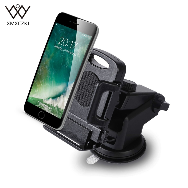 XMXCZKJ Phone Holder Suction Cup Dashboard Windshield Holder 360 Rotation Universal Mount Holder For Smartphon GPS Stand
