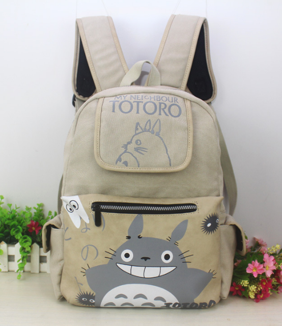 2018 My Neighbor Totoro Canvas Children Backpack School Daily Backpacks Cartoon Computer Bags Bookbag For Teenage Boys Girls anime noragami aragoto yato backpack for teenage girls boys cartoon yukine children school bags casul book bag travel backpacks