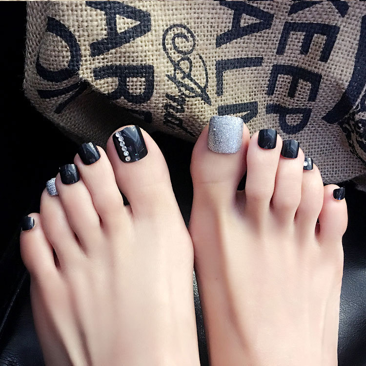 24pcs Foot Nails Magazine Finished Nail Strips Contains No Glue In False From Beauty Health On Aliexpress Alibaba Group
