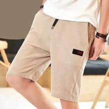 HanHent 2018 vasaros medvilnė ir lino šortai vyrai atsitiktiniai madingi trumpi kelnės su kišenėmis greitas sausas paplūdimio šortai plius dydis vyrų 4xl