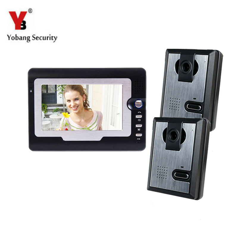 Yobang Security 7 Video Doorbell Camera Door Intercom 2 Outdoor Camera Video Door Phone Color Camera Video Intercom yobang security free ship 7 video doorbell camera video intercom system rainproof video door camera home security tft monitor