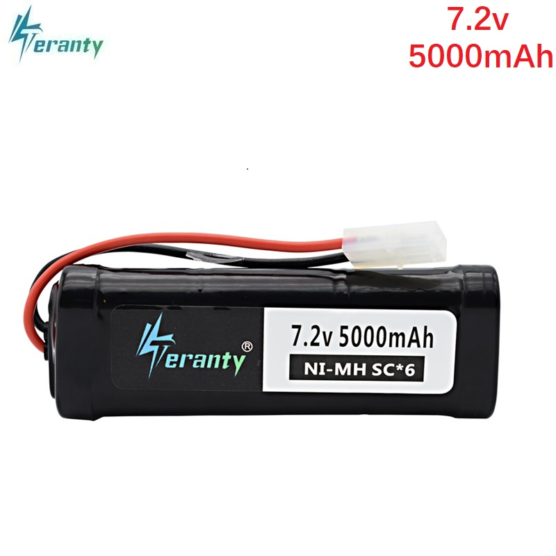 SC*6 Cells 7.2V 5000mAh 15c with Tamiya Plug Rechargeable Ni-MH Battery Pack for RC Remote control toys RC Cars 7.2 v Battery 6v 2800mah m style high capacity aa ni mh rechargeable battery for electric toys rc car rc truck rc boat jst sm tamiya plug