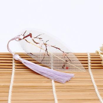 1 sztuk Plum Blossom ciepłe klasyczne kwiat śliwy drukowane rysunek zakładki w stylu chińskim ręcznie zakładki tanie i dobre opinie BZNVN bookmark Single loading Single loading Mei Xiang warm Vein bookmarks SC-07