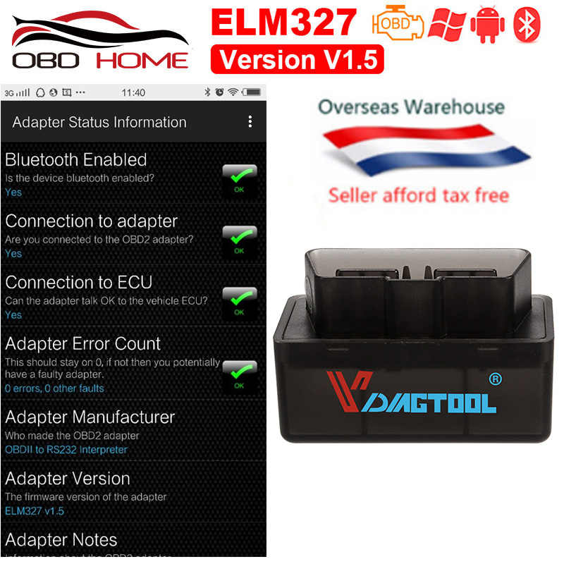 OBD2 ELM327 V1 5 Wifi Bluetooth Hardware V1 5 Interface ELM