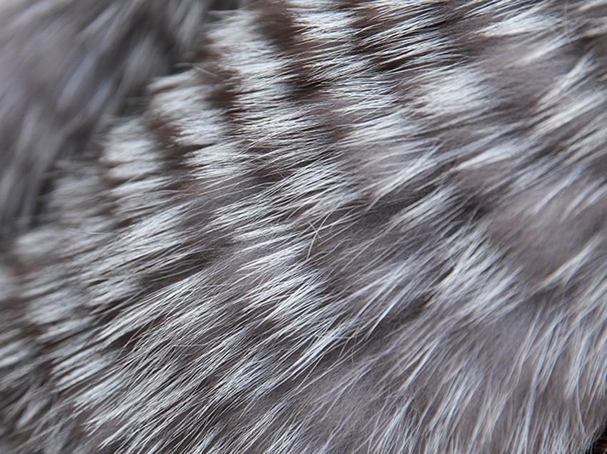 YCFUR Brand Design Fashion Women Scarves Winter Stripes Silver Fox Fur Scarf Female Winter Wraps Scarves Collars Ladies 13