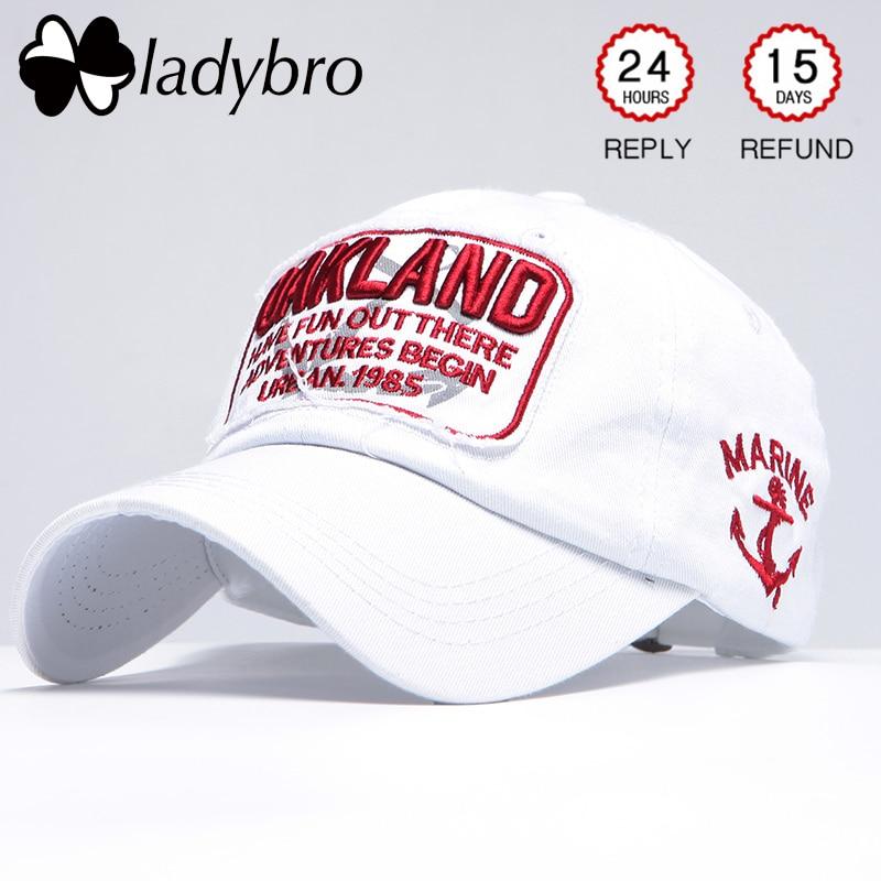 ac1cf908c76 Ladybro Women Baseball Cap Men Snapback Hat Cap Male Female Letter Oakland  Embroidery Summer Bone Retro Ladies Black Cap