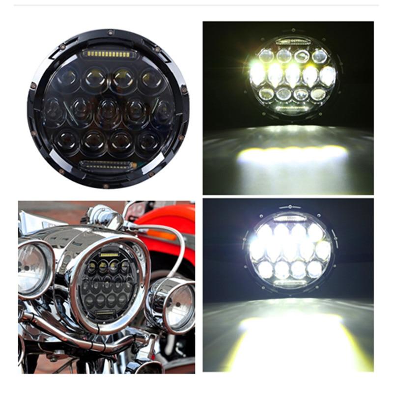 75w Led Headlight 7inch Round High DC 12v 24v External Lights for Jeep Wrangler Jk Tj JL Lada Niva 4x4 1997-2017