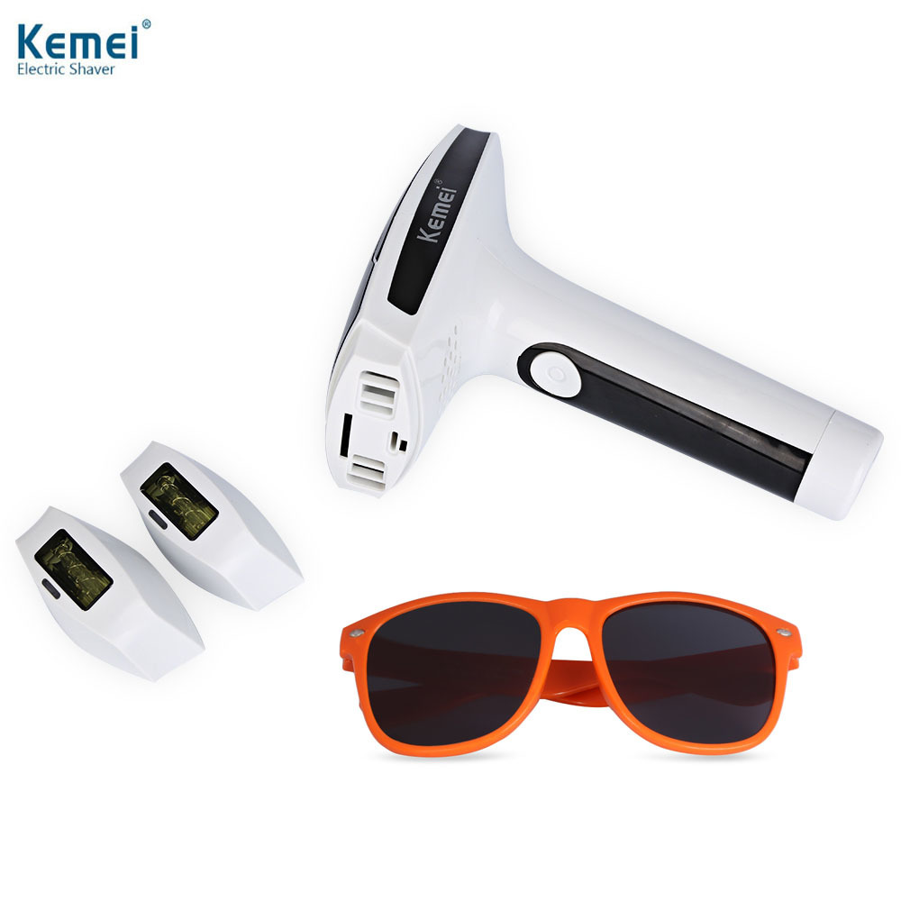 Kemei Epilator Lady Photon Laser Facial Hair Removal Depilatory Shaver Razor Device Face Skin Care Tools For Female Women kemei portable women girl epilator electric body hair removal smooth skin care for facial leg arm bikini line depilatory blade