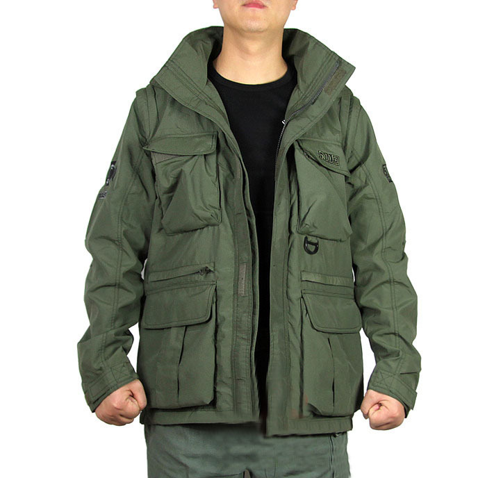 Men outdoor jackets army style detachable sleeve thin warm spring autumn winter  jackets military sleeveless vest sport jackets-in Jackets from Men s ... 068338155aea