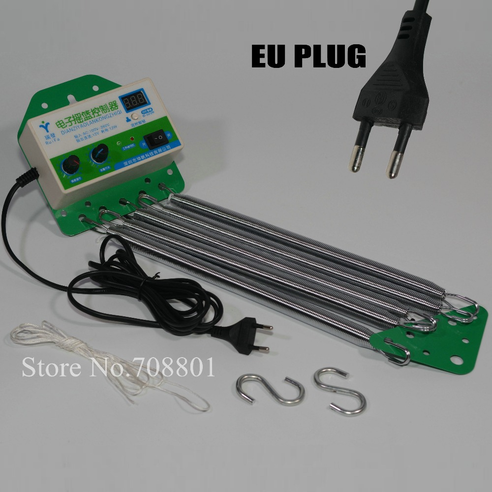 Electric Baby Swing Cradle Controller With EU Plug Auto Rock Play