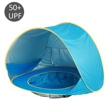 Детские пляжные палатки Всплывающие портативный тенты бассейн УФ Защита солнечные укрытия для младенцев