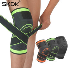 SKDK 1PC Non-Slip Knee Brace Compression Knee Sleeve Sports Knee Pad Running Basketball Fitness Cycling Tennis Knee Support(China)