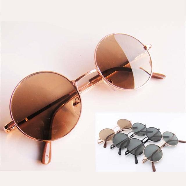 Fashion Vintage Round Sunglasses For Women Men Brand Designer Mirrored Glasses Retro Female Male Sun Glasses Men's Women's Pixel