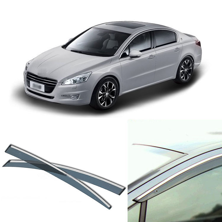 Jinke 4pcs Blade Side Windows Deflectors Door Sun Visor Shield For Peugeot 508 2011-2013 jinke 4pcs blade side windows deflectors door sun visor shield for peugeot 408 2010 2013