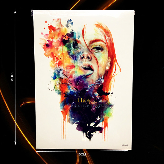 0 78 1 Pc Coloré Dessin Beauté Fille Conception étanche Bras Art Tatouage Manches Décalcomanie Hommes Femmes Henné Temporaire Tatouage Autocollants