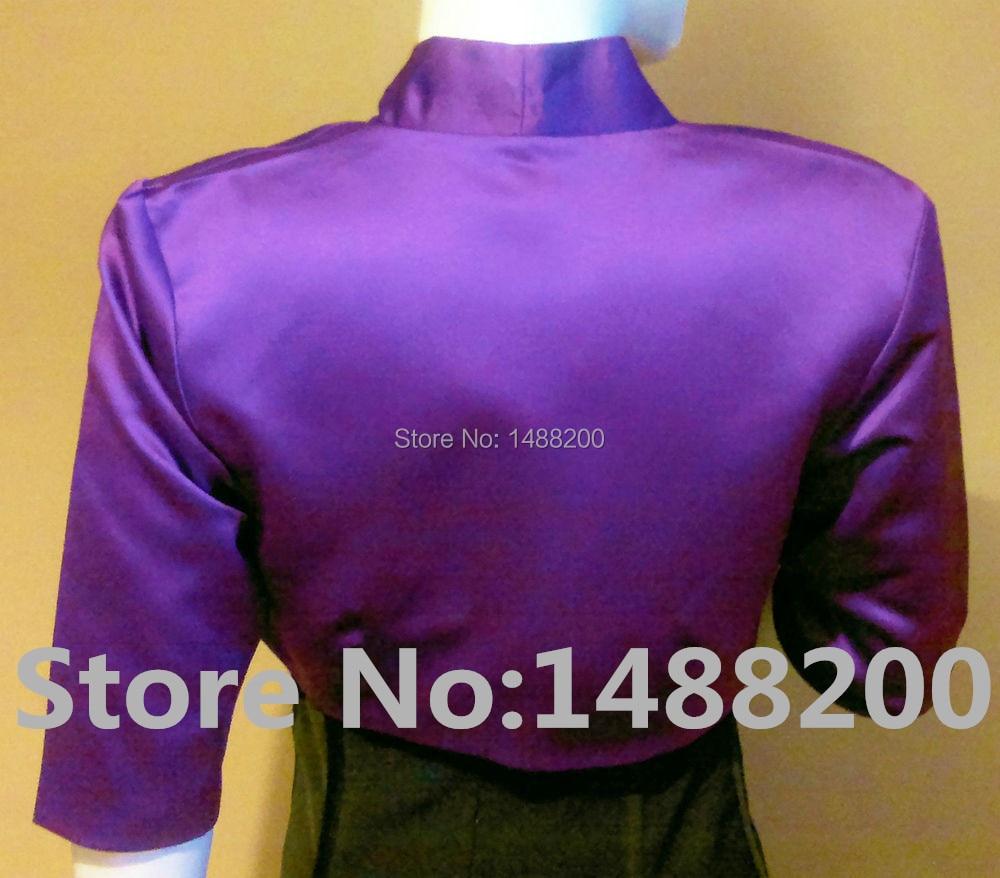 Black Lace /& Satin Bolero//Shrug//Shawl//Cropped Jacket//Stole//Tippet//Wrap 3//4 Lined
