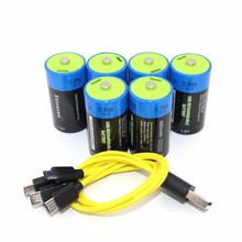6 шт. Etinesan 1,5 в 4500mWh C размер литий-полимерный C Тип перезаряжаемой батареи + зарядный кабель Micro USB