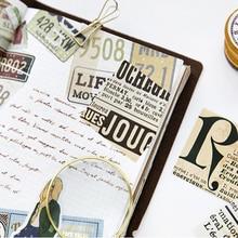 45pcs/box New Nostalgic Newspaper Pocket Label Stickers Diary Decoration Mini DIY Sticker Stationery
